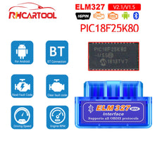 Load image into Gallery viewer, ELM327 V1.5 PIC18F25K80 OBD2 Bluetooth Scanner ELM 327 V1.5 2.1 For Android ODB2 Code Reader OBD 2 OBD2 Car Diagnostic Auto Tool - Ding's Place
