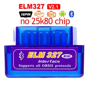 ELM327 V1.5 PIC18F25K80 OBD2 Bluetooth Scanner ELM 327 V1.5 2.1 For Android ODB2 Code Reader OBD 2 OBD2 Car Diagnostic Auto Tool - Ding's Place