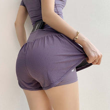 Load image into Gallery viewer, Women Mesh  Yoga Shorts High Waist Running Shorts  Quick Dry Gym Loose Wide Leg Fitness Shorts Gym clothing - Ding's Place