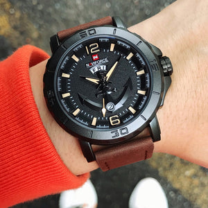 NAVIFORCE Men's Fashion Business Quartz Wristwatches Creative Sports Watches Men Luxury Brand Watch Clock Male Relogio Masculino - Ding's Place
