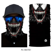 Load image into Gallery viewer, 3D Seamless Venom Magic Bandana Neck Gaiter Summer Thin Tubular Ring Scarves Spiderman Sun Guard Face Headband Scarf Bicycle Men - Ding's Place