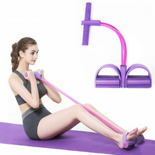 Load image into Gallery viewer, 4 Resistanc Elastic Pull Ropes Exerciser Rower Belly Resistance Band Home Gym Sport Training Elastic Bands For Fitness Equipment - Ding's Place