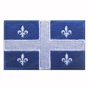 LIBERWOOD Canada Flag Embroidered Patch Canadian Maple Leaf Tactical Morale Badge Canada Quebec Applique Patch Military Emblem - Ding's Place