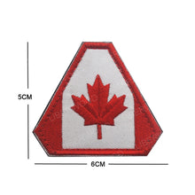 Load image into Gallery viewer, LIBERWOOD Canada Flag Embroidered Patch Canadian Maple Leaf Tactical Morale Badge Canada Quebec Applique Patch Military Emblem - Ding's Place