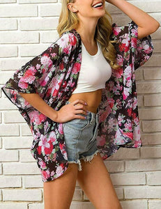 Women's Chiffon Kimono Beach Cardigan / Bikini Cover Up Wrap Beachwear Dress - Ding's Place
