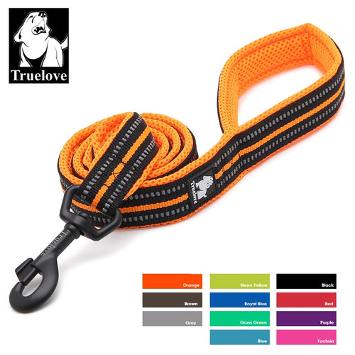 Truelove Soft Dog Pet Leash in Harness and Collar Reflective Nylon Mesh Walking Training 11 Color 200cm - Ding's Place