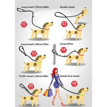 Load image into Gallery viewer, Truelove 7 In 1 Multi-Function Adjustable Dog Lead Hand Free Pet Training Leash Reflective Multi-Purpose Dog Leash Walk 2 Dogs - Ding's Place