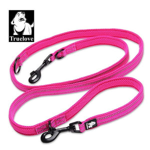 Truelove 7 In 1 Multi-Function Adjustable Dog Lead Hand Free Pet Training Leash Reflective Multi-Purpose Dog Leash Walk 2 Dogs - Ding's Place