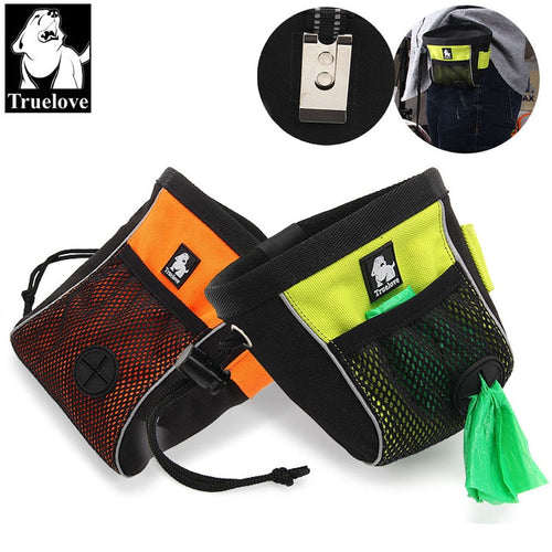 Truelove Portable Travel Dog Snack Treat bag Reflective Pet Training Clip-on Pouch Bag Easy Storage belt bag Poop Bag Dispenser - Ding's Place