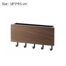 Load image into Gallery viewer, New Wall-hung Type Wooden Decorative Wall Shelf Sundries Storage Box Prateleira Hanger Organizer Key Rack Wood Wall Shelf - Ding's Place