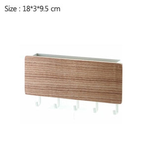 New Wall-hung Type Wooden Decorative Wall Shelf Sundries Storage Box Prateleira Hanger Organizer Key Rack Wood Wall Shelf - Ding's Place
