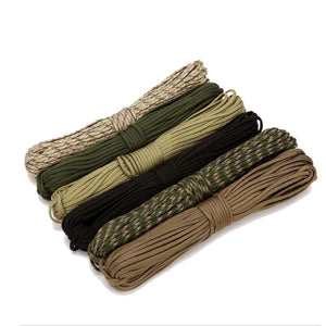 4 Size Dia.4mm 9 stand Cores Paracord for Survival Parachute Cord Lanyard Camping Climbing Camping Rope Hiking Clothesline - Ding's Place