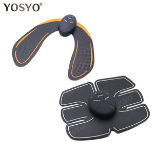 EMS Wireless Muscle Stimulator Trainer Smart Fitness Abdominal Training Electric Weight Loss Stickers Body Slimming Massager - Ding's Place
