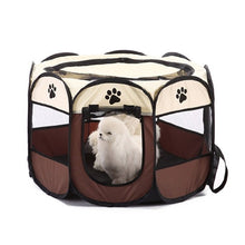 Load image into Gallery viewer, Portable Folding Pet tent Dog House Cage Dog Cat Tent Playpen Puppy Kennel Easy Operation Octagon Fence - Ding's Place