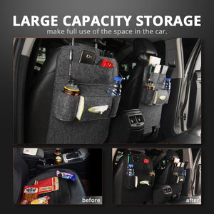 Car Seat Storage Bag Back Seat Organizer Box Car Seat Back Storage Bag Pad Cups Storage Holder  Fabric - Ding's Place