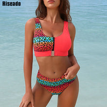 Load image into Gallery viewer, Riseado Sexy Bikini Set Leopard Swimwear Women / Patchwork Swimsuits Push Up Printed Bikini Beach Wear - Ding's Place