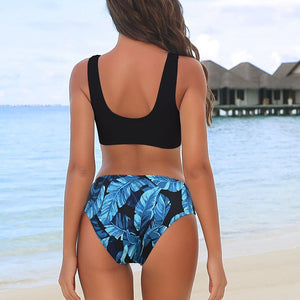 Riseado Sexy Bikini Set Leopard Swimwear Women / Patchwork Swimsuits Push Up Printed Bikini Beach Wear - Ding's Place