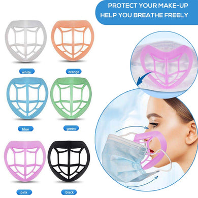 1 pcs 6 color Breathable Lipstick Protection Breathing Space Increase Nose Protection 3D Mask Bracket Prevent Makeup Removal - Ding's Place