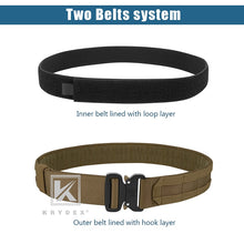 "Load image into Gallery viewer, KRYDEX 1.75"" & 1.5"" Tactical Cobra Belt Rigger Duty 2 IN 1 Outer & Inner Quick Release MOLLE Belt For Hunting Shooting Outdoor - Ding's Place"