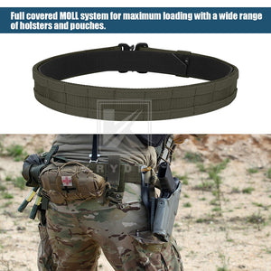 "KRYDEX 1.75"" & 1.5"" Tactical Cobra Belt Rigger Duty 2 IN 1 Outer & Inner Quick Release MOLLE Belt For Hunting Shooting Outdoor - Ding's Place"