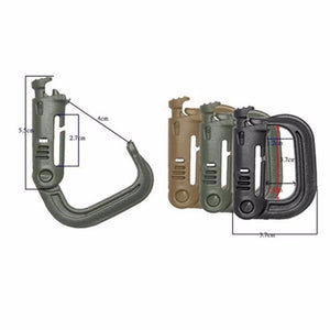 5PCS Grimloc Molle Carabiner D Locking Ring  Plastic Clip Snap Type Ring Buckle Carabiner Keychain ITW fastener Bag buckle - Ding's Place
