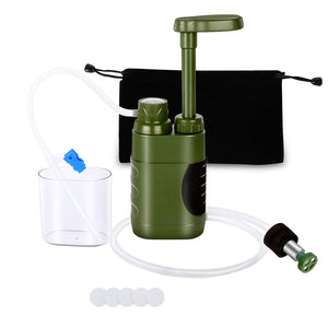 Outdoor Water Filter Straw Water Filtration System Water Purifier for Family Preparedness Camping Hiking Emergency EDC Tool - Ding's Place
