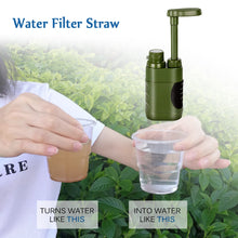 Load image into Gallery viewer, Outdoor Water Filter Straw Water Filtration System Water Purifier for Family Preparedness Camping Hiking Emergency EDC Tool - Ding's Place