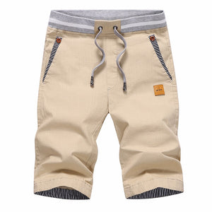 Solid casual shorts men cargo shorts / beach shorts - Ding's Place
