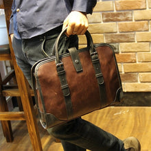 Load image into Gallery viewer, Leather Handbag fashion business bag briefcase - Ding's Place