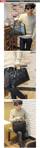 Leather Handbag fashion business bag briefcase - Ding's Place