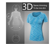 Load image into Gallery viewer, COLORFUL SERIES Women Yoga Shirts Fitness Short Sleeve T Shirt Gym Running Women's Quick Dry Tees - Ding's Place