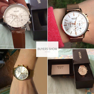 MEGIR Chronograph Luxury Women Bracelet Watches Wrist Watch Ladies - Ding's Place