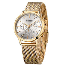 Load image into Gallery viewer, MEGIR Chronograph Luxury Women Bracelet Watches Wrist Watch Ladies - Ding's Place