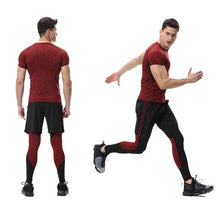 Load image into Gallery viewer, Men's Running / Compression Sport  Fitness Gym Sportswear Yoga Training Pants Cropped - Ding's Place