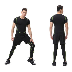 Men's Running / Compression Sport  Fitness Gym Sportswear Yoga Training Pants Cropped - Ding's Place