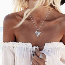 Load image into Gallery viewer, Infinity Heart Owl Crystal Cross Leaf Minimalist Clavicle Pendants Necklaces - Ding's Place