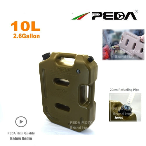 10L Jerry Can Portable fuel tank Plastic gas can - Ding's Place