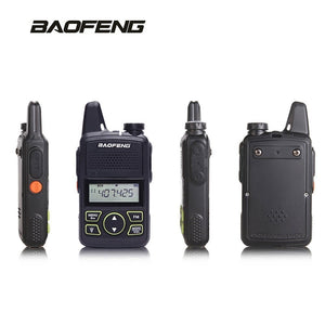 Baofeng Mini Mobile Car Transceiver 20 Channels UHF 400~470Mhz 15W Transmit Power iechle Radio & 2 Mini Handheld Walkie Talkies - Ding's Place