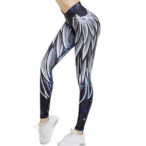 Harajuku 3D wing leggings for women 2018 push up sporting fitness legging athleisure bodybuilding sexy women's pants - Ding's Place