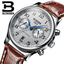Load image into Gallery viewer, Switzerland Binger Luxury Brand Men's Watches Relogio Waterproof Watch Male Automatic Mechanical Men Watch Sapphire B-603-54 - Ding's Place