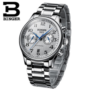 Switzerland Binger Luxury Brand Men's Watches Relogio Waterproof Watch Male Automatic Mechanical Men Watch Sapphire B-603-54 - Ding's Place