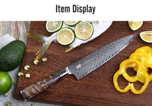 Load image into Gallery viewer, FINDKING 6 PCS AUS-10 Damascus Steel Sapele Wood Handle Arrow Pattern Damascus Knife Set 67 layers Chef Utility Paring  Knife - Ding's Place