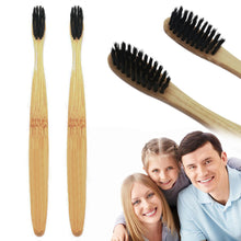 Load image into Gallery viewer, Natural Environmental Protection Teeth Whitening Bamboo Handle Soft Toothbrush - Ding's Place