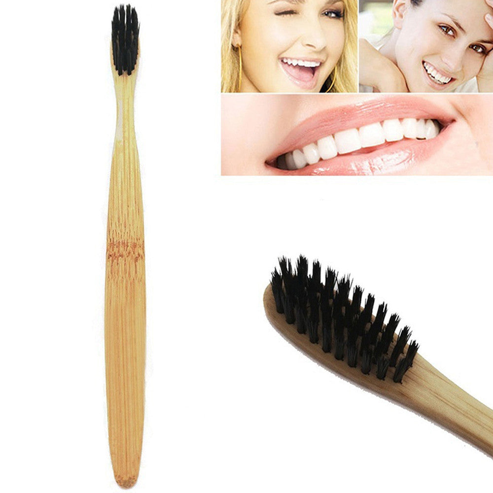 Natural Environmental Protection Teeth Whitening Bamboo Handle Soft Toothbrush - Ding's Place