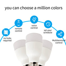 Load image into Gallery viewer, WiFi Smart Light Bulb Intelligent Colorful LED Lamp 7W RGBW APP Remote Control Works with Alexa Google for Smart Home E27 E26 - Ding's Place