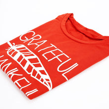 Load image into Gallery viewer, Fashion New Women T-shirt Summer Short Sleeve t shirt Brick Red Blessed Feather Print O-Neck Tees Ladies  2018 Casual Female Top - Ding's Place