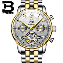 Load image into Gallery viewer, Switzerland BINGER Watches Men Luxury Brand Tourbillon multiple functions Water Resistant Mechanical Male Wristwatches B-8603M-6 - Ding's Place