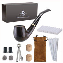 Load image into Gallery viewer, Pipe Smoking set, Smoking Pipe, Ebony Tobacco Pipe with Pipe Accessories - Ding's Place