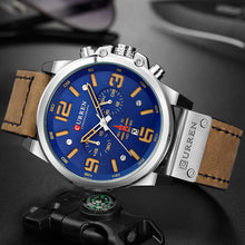 Load image into Gallery viewer, CURREN 8314 Fashion Leather Strap Quartz Men Watches Casual Date Business Male Wristwatches Clock Montre Homme - Ding's Place