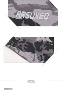 ARSUXEO Men's Compression Running Pants - Camouflage Breathable Sports Yoga Jogging Training Pants - Ding's Place
